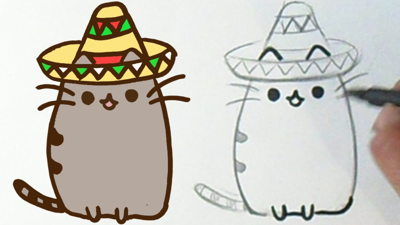 How I Draw Pusheen The Cat Mexican Kawaii