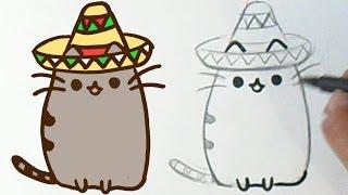 Cara menggambar lucu kucing Meksiko