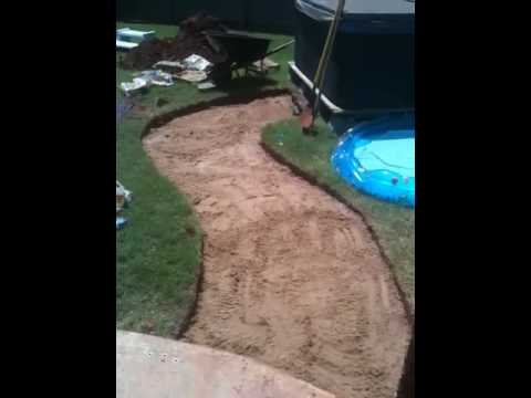 Flagstone Crushed Granite Walkway Pt4 Youtube