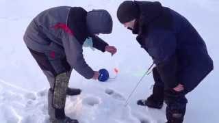 Зимняя рыбалка. Озеро Сугояк. Челябинская обл. Щука 2,5 кг на жерлицу. Декабрь 2014
