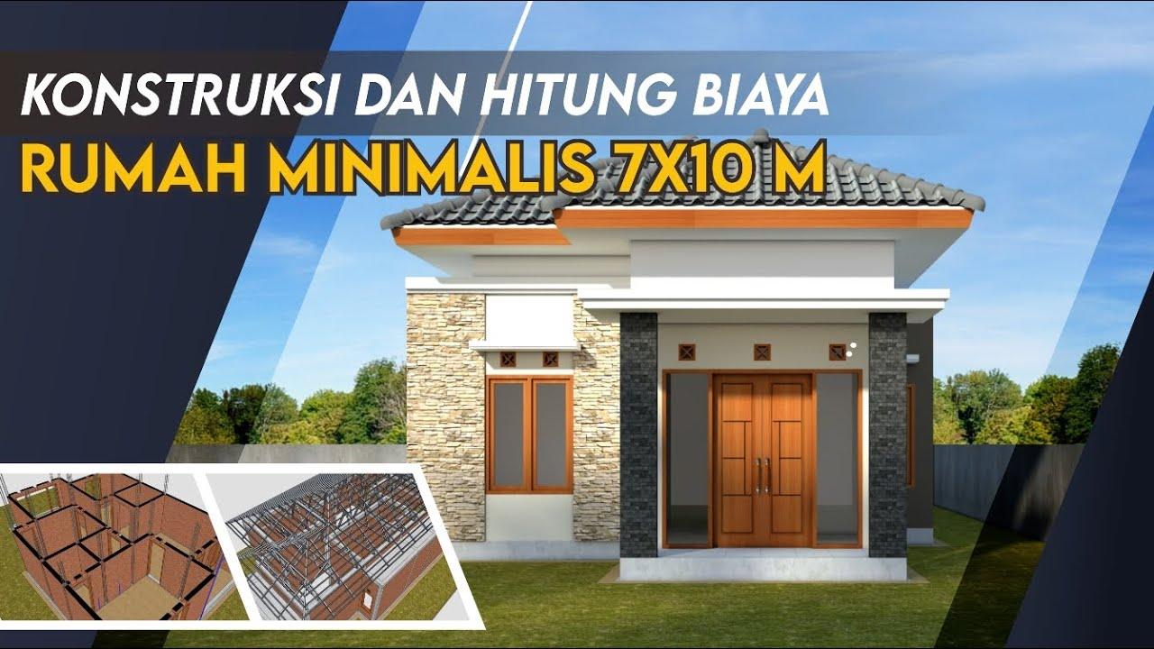 Desain Rumah 7x10 Meter 3 Kamar Musholla Animasi Konstruksi Youtube