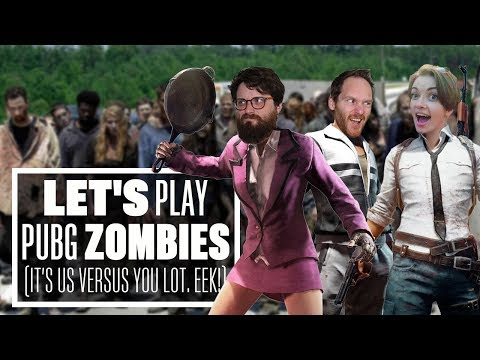 Let's Play PUBG Zombies mode! - PLEASE DON'T EAT US!!!