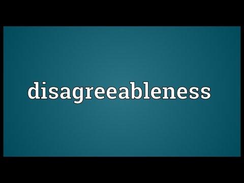 Header of disagreeableness