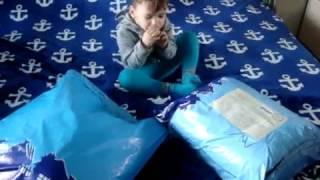 гигантская посылка с тканями
