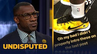 Skip and Shannon react to LeBron wearing a pair of Kobe shoes | NBA | UNDISPUTED