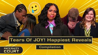 Tears Of JOY! Happiest Reveals On Paternity Court (Compilation)   Paternity Court