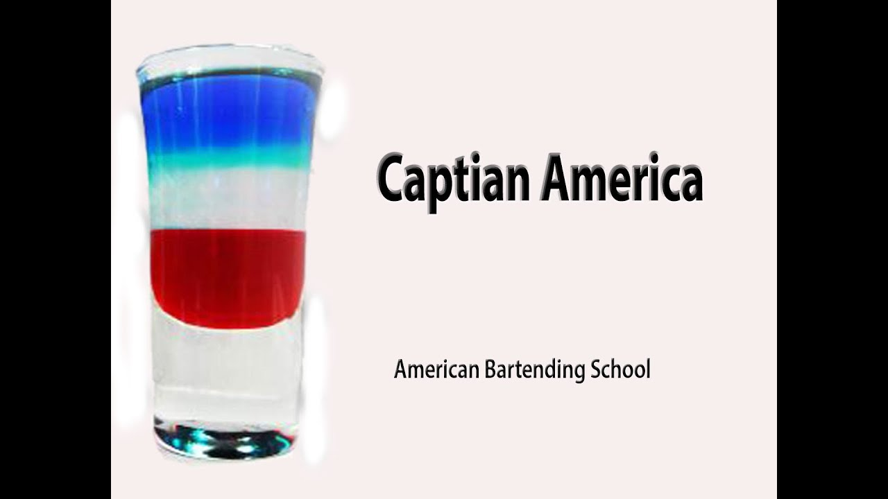 Captain america cocktail drink recipe youtube for Cocktail usa
