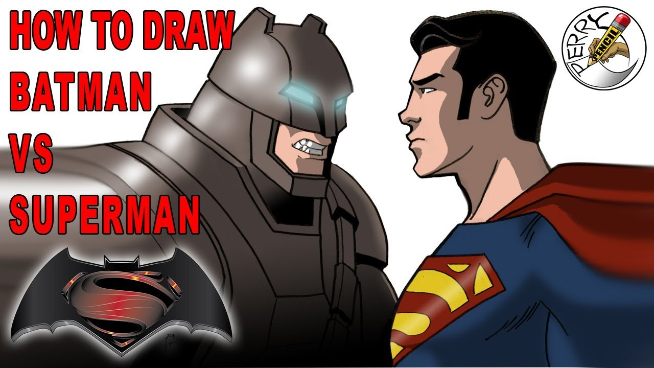 How To Draw Batman Vs Superman Youtube See more ideas about superman drawing, superman, superhero. how to draw batman vs superman