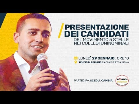 movimento 5 stelle presentazione dei candidati nei collegi uninominali roma 29 1 2018 youtube