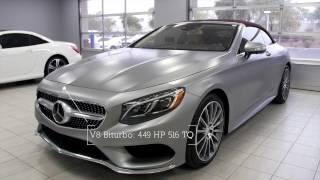 2017 S550 Convertible Soft Top - Designo Magno Alanite Grey Mercedes-Benz S-Class S550