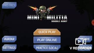 First mini militia online game after a long time