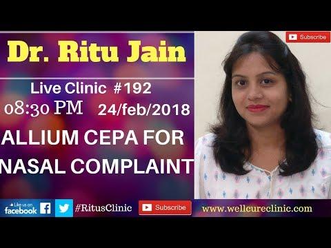 Allium Cepa For Nasal Complaint Dr.Ritu's Live Clinic#192