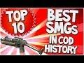 "Top 10 ""BEST SMGs"" in COD HISTORY (Top Ten - Top 10) | Chaos"