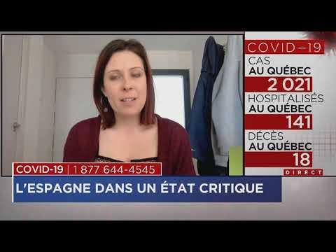 Coronavirus: Nouveau record de décès en Espagne entrevue avec Christine Cardin