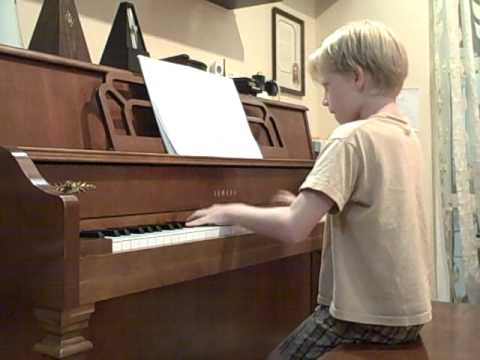 "8 Year Old Nathan Schaumann Plays ""All Of Me"" By Jon Schmidt - With A Slight Mishap"