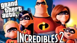GTA 5 Mods - THE INCREDIBLES 2 MOD w/ Mr Incredible & Mrs Incredible (GTA 5 PC Mods Gameplay)