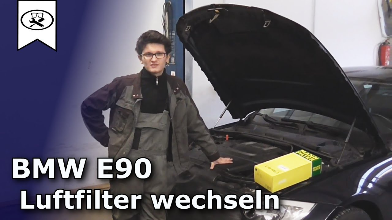 bmw e90 320 d luftfilter wechseln bmw airfilter to change vitjawolf tutorial hd youtube. Black Bedroom Furniture Sets. Home Design Ideas