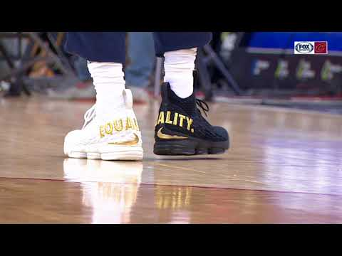 LeBron James wearing special EQUALITY shoes for game in Washington D.C.