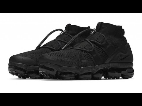 best sneakers a1930 3f511 NIKE AIR VAPORMAX UTILITY TRIPLE BLACK REVIEW AMD RELEASE DETAILS!