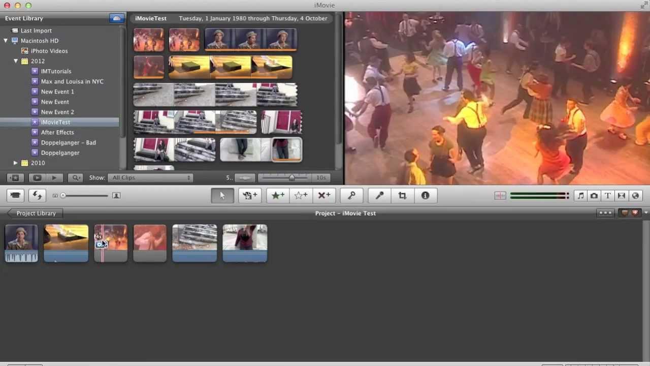 iMovie Tutorial - 2  Creating a Rough Edit