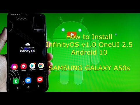 InfinityOS v1.0 OneUI 2.5 ROM for Samsung Galaxy A50s Android 10 Q