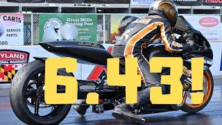 JAW DROPPING STREET TIRE MOTORCYCLE WORLD RECORD! NO BAR GSXR 1000 GOES 6.43! INSANE ADVANCEMENT!