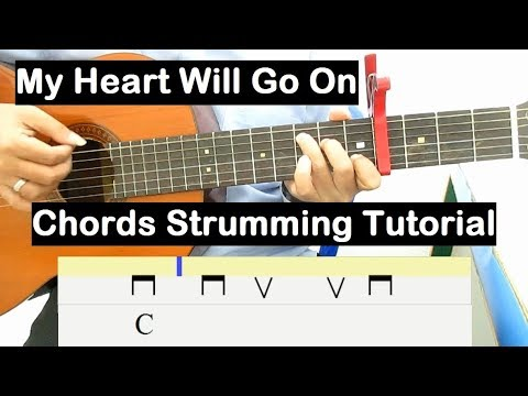My Heart Will Go On Guitar Lesson Chords Strumming Tutorial Guitar Lessons  for Beginners