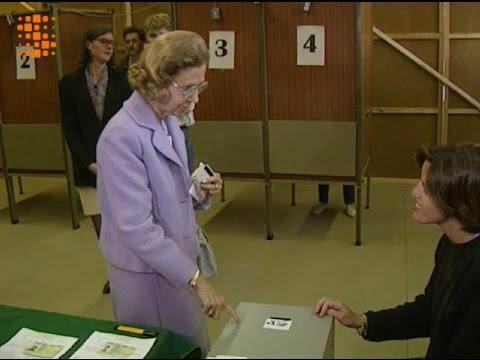 Queen Fabiola Votes in Belgian Elections - French