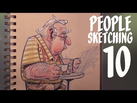 How to be a freelance artist - people sketching - episode 10