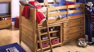 Lea 618-963r Twin Low Loft Bed From Austin