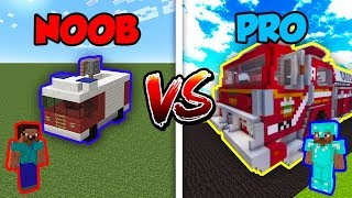 Minecraft NOOB Vs. PRO F RETRUCK In Minecraft