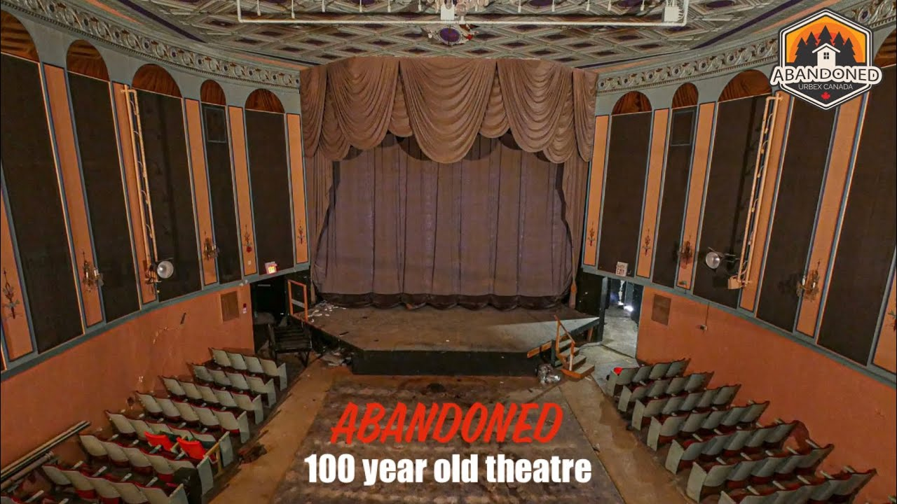 Exploring an abandoned 100 year old theatre with safe and projectors still inside. Explore #82