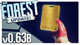 NEW GOLD KEYCARD + MACHETE, CAMCORDER & TACTICAL FLASHLIGHT LOCATION | The Forest Gameplay v0.63b