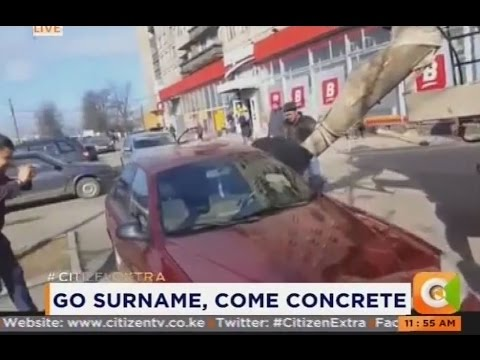 Husband fills wife's car with concrete after she changed her