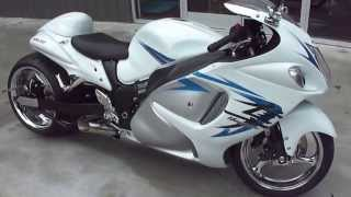 2009 Suzuki Hayabusa built by Garwood Custom Cycles and Features C and S Custom 300 Wide Tire Kit