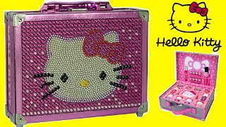 hello kitty special edition cosmetic case makeup box for kids unboxing