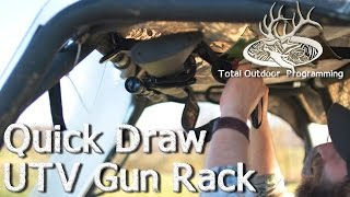 Quick Draw UTV Gun Rack Product Review - Great for firearms safety