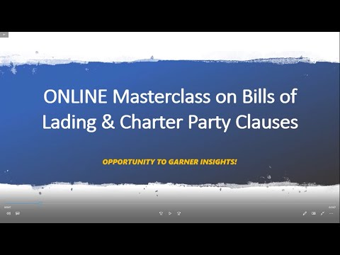 Bills of Ladings and Charter Party Clauses