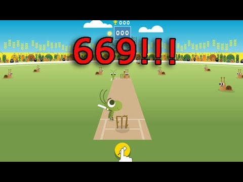 World S High Score On Google Doodle Icc Cricket Game