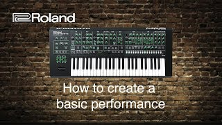 Roland System-8 - How to create a basic performance