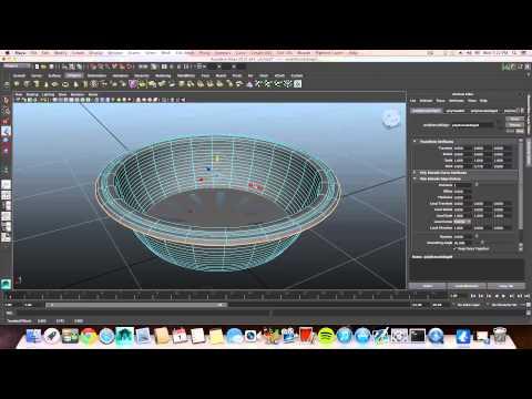 Maya Modeling Tutorial-how to model a sink