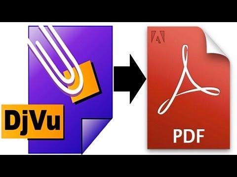 Как изменить формат djvu на pdf