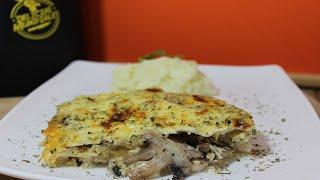 Como hacer o preparar pollo con champiñones al queso / receta facil