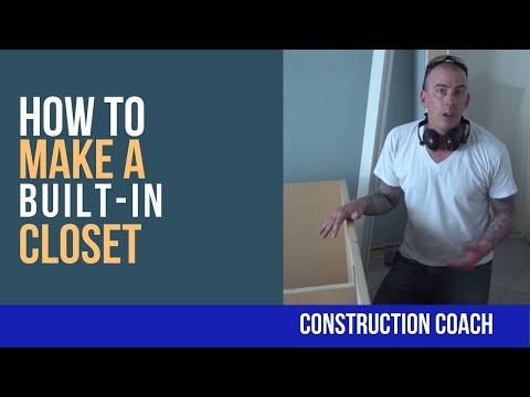 How to make a built-in Closet - DIY