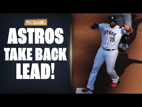 Michael Brantley puts Astros back on top as Martin Maldonado breaks for home in ALCS Game 5!