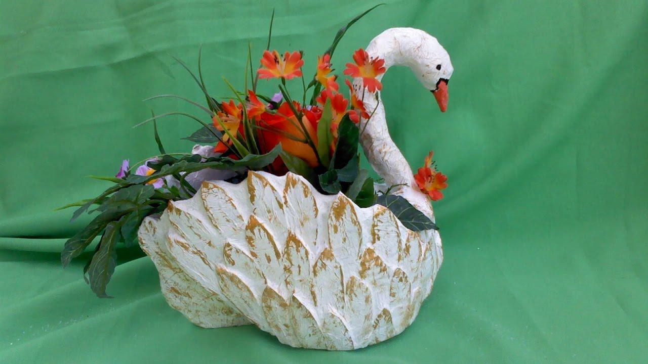 cisne hecho de carton - YouTube