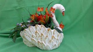 vuclip cisne hecho de carton