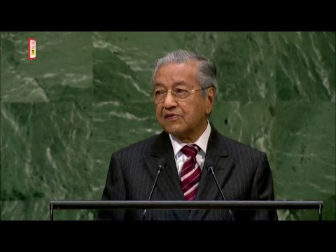 Tun Dr Mahathir's speech at the 73rd Session of the UN General Assembly