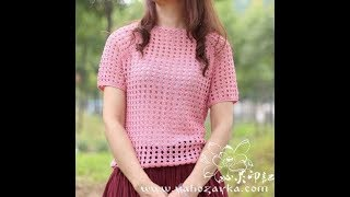 Летняя Кофточка Крючком Реглан - 2018 / Summer Blouse Crochet Raglan