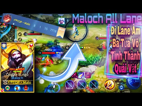 Maloch Mùa 16   Maloch Đi Lane Âm Ba Tưa Vô Tình Thành Sát Thủ   Dual Rank Cùng Ryoma Channel